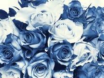 Delft-blauer Hochzeitsblumenstrauß Stockbilder