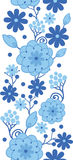 Delft blue Holland flowers vertical seamless Royalty Free Stock Images