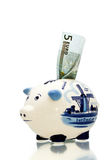 Delft Blue Piggy Bank 4 Stock Photo