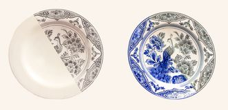 Delft blue plate Royalty Free Stock Photos