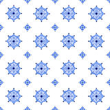Delft blue style seamless watercolor vintage pattern royalty free stock photography