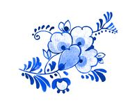 Delft blue motif Royalty Free Stock Photo