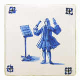 delft blue tile Royalty Free Stock Photo