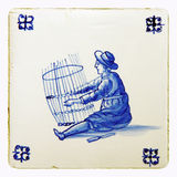 delft blue tile Royalty Free Stock Photography