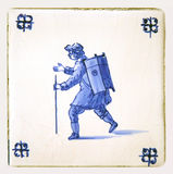 delft blue tile hawker Royalty Free Stock Photography