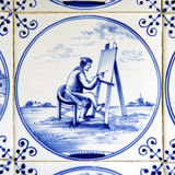 delft blue tiles Stock Images