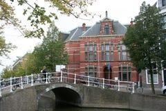 Delft bridge in the city Stock Photos