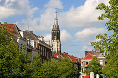 Delft Church Tower Stock Photography