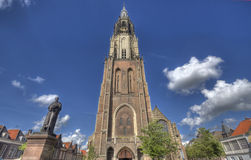 Delft Church Tower Royalty Free Stock Photos