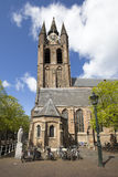 Delft church tower Royalty Free Stock Photography