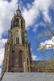 Delft church tower Royalty Free Stock Image