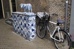 Delft city Holland blue ceramic Stock Photos