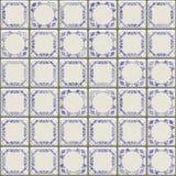 Delft couvre de tuiles la texture illustration stock