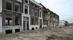 Delft Demolition. Demolition of historical houses in Delft, Holland Stock Photography