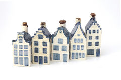delft för keramiskt porslin holländska historiska hus royaltyfri fotografi