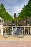 delft holland gammal town Arkivbilder
