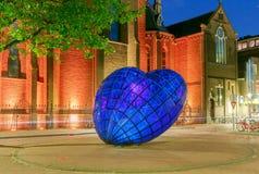 delft Il cuore blu della città Immagine Stock