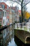 Delft kanał Zdjęcia Stock