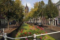 Delft kościół Wierza, Holandia Obrazy Royalty Free