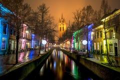 Delft-Lichtfestival Lizenzfreie Stockfotos