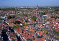 Delft - Luftaufnahme Stockfoto