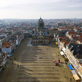 Delft Market square royalty free stock images