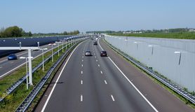 A4 motorway in the Netherlands. royalty free stock photo