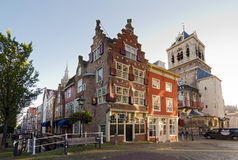 Delft. NETHERLANDS - OCTOBER 24: A view of a portion of the town center of , on October 24, 2013 in , Netherlands Stock Photography