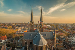 Delft Netherlands. View of city of Delft in the Netherlands Royalty Free Stock Photography