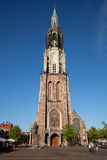 Delft Nieuwe Kerk Cathedral Against Blue Sky Royalty Free Stock Image