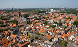 Delft Old Church and City Stock Photography