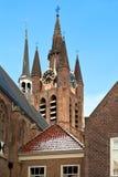 Delft Old Church Tower Stock Photos