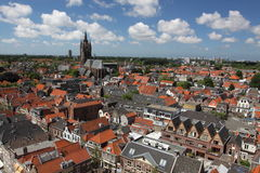 Delft panorama Royalty Free Stock Photography