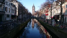 Delft - Pays-Bas - hiver photo stock