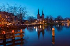 Delft a penombra Immagini Stock