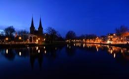 Delft a penombra Fotografia Stock Libera da Diritti