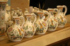 Delft pottery. Picture of unfinished delft pottery stock photography