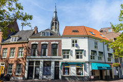 Delft stary centrum holandie Zdjęcia Royalty Free