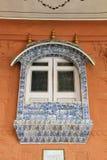 Delft tiled window Stock Photo