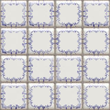 Delft tiles seamless Royalty Free Stock Photography