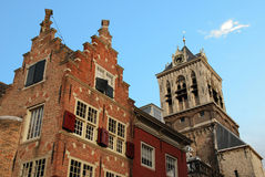 Delft town hall. On light blue sky Royalty Free Stock Photos