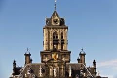Delft urzędu miasta dachu renesansu architektura Obrazy Stock