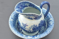 Delft wash bowl and jug Royalty Free Stock Photo