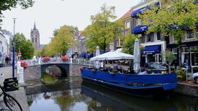 Delft water channels, Netherlands (Holland) travel, stock video footage
