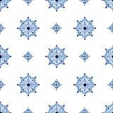 Delfter Blau redet nahtloses Muster an Lizenzfreies Stockfoto