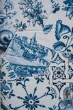 Delftfajansblått, mosaik för keramiska tegelplattor arkivfoto