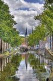 Delftfajanskanal, Holland fotografering för bildbyråer