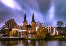 Delftfajansportoospoort Arkivfoto