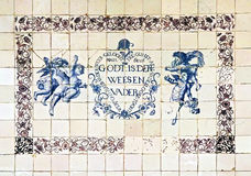 Delftware blue tiles Royalty Free Stock Photo