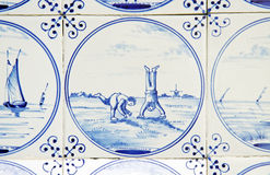 delftware, playing children Stock Photo